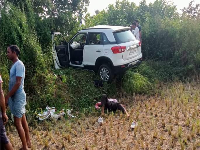 भरधाव कार झाडावर आदळली ; एक तरुण ठार, चार जखमी, दसऱ्याच्या दिवशी गावावर शोककळा